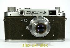 Early Russian FED-2 with FED lens 35-mm film camera M39 mount. Repaired