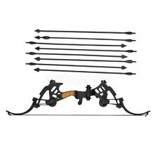 """1/6 Scale Compound Bow Set Model Arrow For 12"""" Costume Figure ZY TOYS Black"""