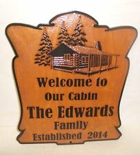 Personalized-Custom-Wood-Sign-WELCOME TO OUR CABIN - ANY TEXT Engraved Gift.