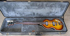 Beautiful Epiphone Viola Electric Bass Guitar with Hard Shell Case Great Shape