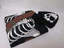 DISNEY ADULT SKELETON PIRATES HALLOWEEN BLACK ZIPPER HOODIE SWEATER L NWT $80