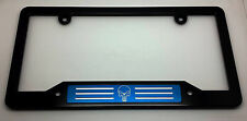 Punisher, HMC Billet Aluminum License Plate Frame, Black Anodized,  Blue Badge