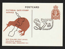 OPC 1977 Christchurch New Zealand Panpex Pictorial Date Stamp Stationary