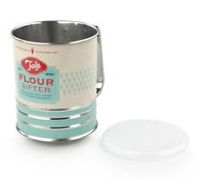 Tala Originals Retro Green Flour Sifter with Top & Bottom Lids
