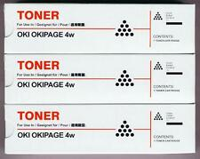 3-Pack of New Toner Cartridges for Okidata Okipage 4w