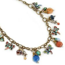 NEW SWEET ROMANCE OLLIPOP DRAGONFLIES GARDEN CHARM NECKLACE ~~MADE IN USA~~