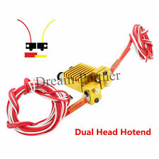 Chimera Extruder V6 Dual Head Hotend 0.4mm/1.75mm All-metal J-head for 3Dprinter