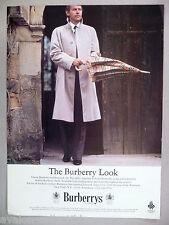 Burberrys Raincoat PRINT AD - 1981 ~~ Burberry