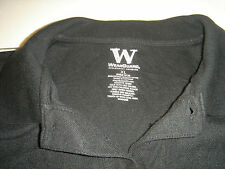 MENS XL BLACK POLO STYLE 11116 60 COTTON 40 POLY WASHABLE WEARGUARD / ARAMARK