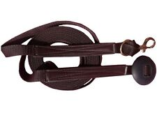 Flat Nylon Leather Reinforced Lunge Line with Replaceable Brass Snap