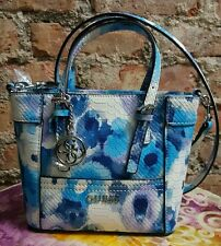 GUESS DELANEY FLORAL PRINT MINI PETITE TOTE NWT Handbag Purse Cobalt