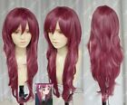 Hot Sell ! new straight Long Dark red Cosplay Wig N.016