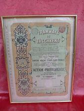 schönes Bild__altes französisches Dokument 1897 (Aktie)__gerahmt, hinter Glas _!