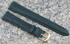 18mm Green STYLECRAFT Pampa Leather WatchBand NOS Strap Made in Canada item #92