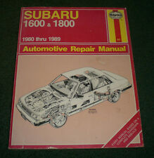 Haynes 681 Subaru 1600 & 1800 1980 thru 1989 Auto Repair Manual~FAST SHIPPING!!!