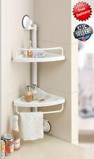 2 Niveles De Cocina Y Baño Colgante higiénico Esquina Estante Rack de almacenamiento Ajustable