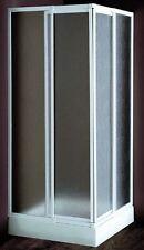 Box doccia angolare 80x80 profilo alluminio bianco cristallo stampato 3 mm