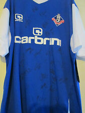 Oldham Athletic 2011-2012 Squad Signed Football Shirt FLT Charity Letter /39480