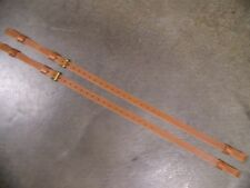 LEATHER LUGGAGE STRAPS for LUGGAGE RACK/CARRIER~(2) SET~LT. HONEY~~SOLID BRASS.