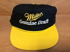 Miller MGD Yellow and Black Snapback Hat - New Old Stock - Free Shipping - 1 pk