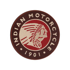 "New 4 3/4"" Indian Motorcycle 1901 Style - Highly Detailed Embroidered Patch"