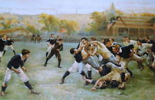 Old Fashioned Rugby Team vintage art
