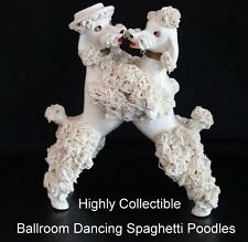 Lefton Spaghetti Poodles Vintage 50s Bookpiece Ballroom Dancing Pair Collectible