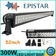 "52"" 300W FLOOD SPOT COMBO LED Light Bar Offroad Driving Lamp SUV Car Boat 4WD"