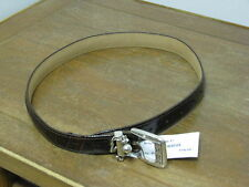 "Womens Brighton Brown Croc Leather Size 28"" Belt BRAND NEW MSRP $58!!"