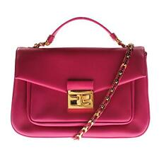 Fendi 9922 Womens Be Baguette Pink Leather Chain Shoulder Handbag Small BHFO