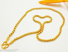 Chain 22K 23K 24K THAI BAHT YELLOW GOLD GP NECKLACE 26 inch 39 Grams Jewelry