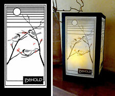 "Open Cupboard Designs Japanese Washi Paper Luminary  ""Behold"" Chickadee"