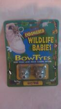 Endangered Wildlife Babies Bow Tyes Gray Wolf Holder By Seneca 1996     NEW t106