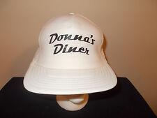 VTG-1980s Donna's Diner 1950s rockabilly diner Sharon Pennsylvania hat sku17