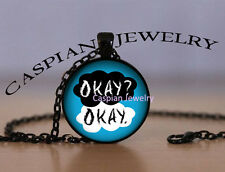 "Black Fashion The Fault In Our Stars ""Okay"" Quote Pendant Necklace"