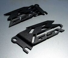 Suzuki GSXR Cut Heel Guards Plates GSX-R 600 750 1000 Black