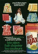 """Publicité Ancienne """" Lessive BIO AJAX 1970 """" (  P. 31 )"""