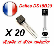 20 Pcs Dallas DS18B20 1-Wire Digital Thermometer TO-92