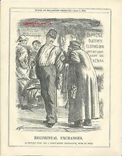 1875 Punch Cartoon Army Regimental Exchanges Clothes Dealer Tailor