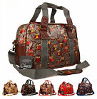 High Quality Womens Oilcloth Owl Gym Maternity Hand Luggage Travel Holdall Bag