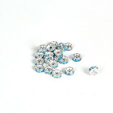 Jewelry Making 20pcs 8mm Plated silver crystal spacer beads FREE SHIPPING B&18