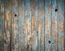 Old blue chalk peinture bois toile de fond fond vinyle photo prop 5X7FT 150x220CM