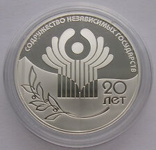 """RUSSLAND  3 RUBEL -""""20 JAHRE GUS"""" - 2011(PP) PROOF,SILBER"""