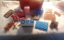 Country Cottage Hong Kong 1950s Furniture set People Blue Box OSS Plastic MIB