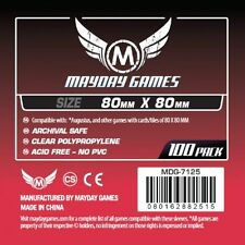 100 square 80mm x 80mm sleeves from Mayday Games