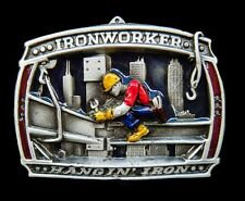 IRONWORKER BUCKLE METAL STEEL IRON WORKER NATIVES TRADITION BELT BOUCLE CEINTURE