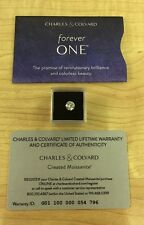 CHARLES & COLVARD FOREVER ONE ROUND MOISSANITE 1.00 CARAT 6.5MM WITH CERTIFICATE