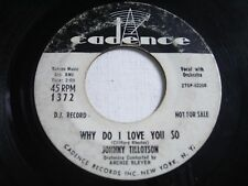 PROMO Johnny Tillotson Why Do I Love You So / Never Let Me Go 1959 45rpm