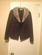 dolce and gabbana mink fur and wool jacket