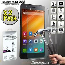 """2 Pack Genuine Tempered Glass Film Screen Protector Cover For JiaYu S3+ 5.5"""""""